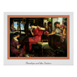 Penelope and the Suitors Poster