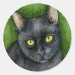 Penélope - el pegatina afortunado del gato negro