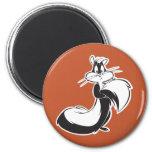 Penelope Grabbing Tail 2 Inch Round Magnet
