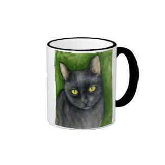 Penélope - la taza afortunada del gato negro