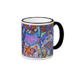 Penélope la taza púrpura del gato del remiendo