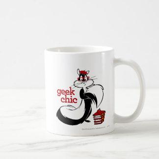 Penélope - moda del friki taza básica blanca
