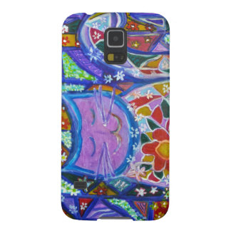 Penelope the Blissful Purple Patchwork Kitty Case For Galaxy S5