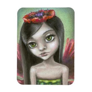 Penelope the poppy fae rectangular photo magnet