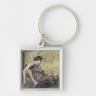 Penelope weaving a shroud for Laertes her father-i Keychain