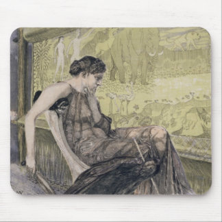 Penelope weaving a shroud for Laertes her father-i Mouse Pad