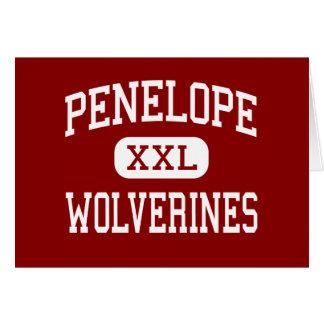Penelope - Wolverines - High - Penelope Texas Greeting Cards