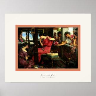 Penélope y el Juan W Waterhouse de los pretendie Poster