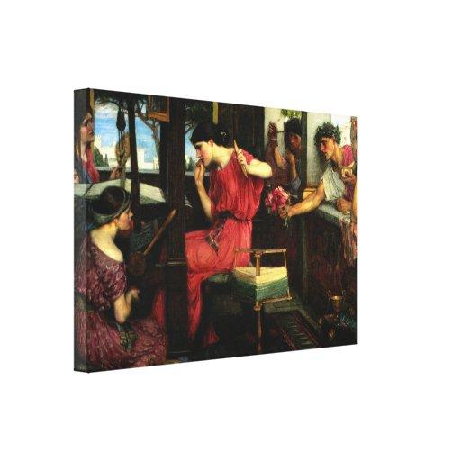 Penélope y las 1912) lonas de bella arte del ~ de  impresión en tela
