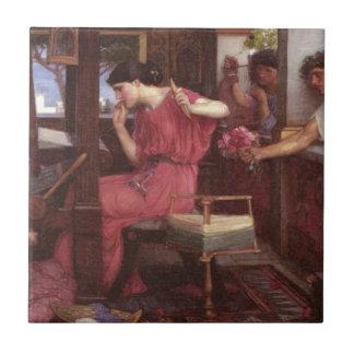 Penélope y los pretendientes - John William Waterh Azulejo Cuadrado Pequeño