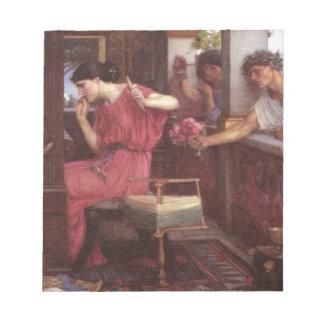 Penélope y los pretendientes - John William Waterh Bloc De Notas
