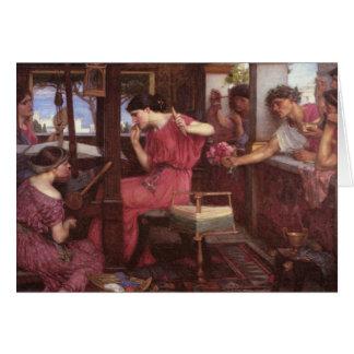Penélope y los pretendientes - John William Waterh Tarjeta De Felicitación