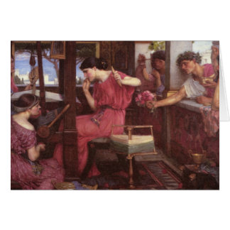 Penélope y los pretendientes tarjeta de felicitación