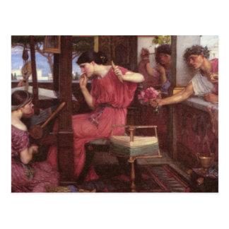 Penélope y sus pretendientes postales