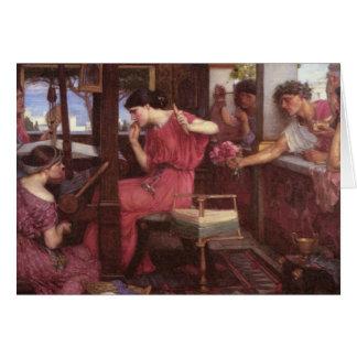 Penélope y sus pretendientes tarjeta de felicitación