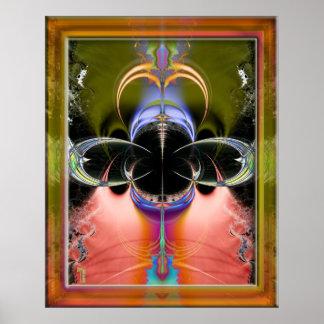 Penetrating Convergence Variation 2  Art Print
