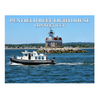 Penfield Reef Lighthouse, Connecticut Postcard