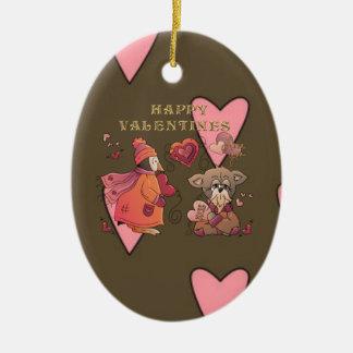 Peng & Pooch Love Ceramic Ornament