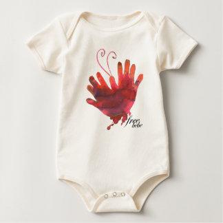 Pengi Bebewear 'free bebe' organic Baby Bodysuit