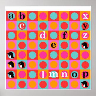 "Pengi KIDZ ""Demi"" alphabet wall poster"