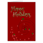 PengiHolidays Happy Holidays winterberries card