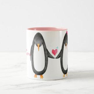 Pengin Luv Two-Tone Coffee Mug