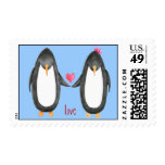 Pengin Luv Postage Stamps