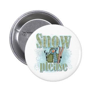 Pengin Ski Snow Please Button