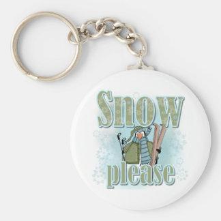 Pengin Ski Snow Please Keychain
