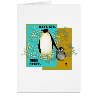 PengiWear Father's baby shower invitation Greeting Card