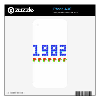 Pengo 1982 Penguins and Ice Cubes Decal For iPhone 4S
