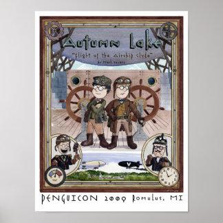 PENGUICON poster de Steampunk del lago 2009 autumn