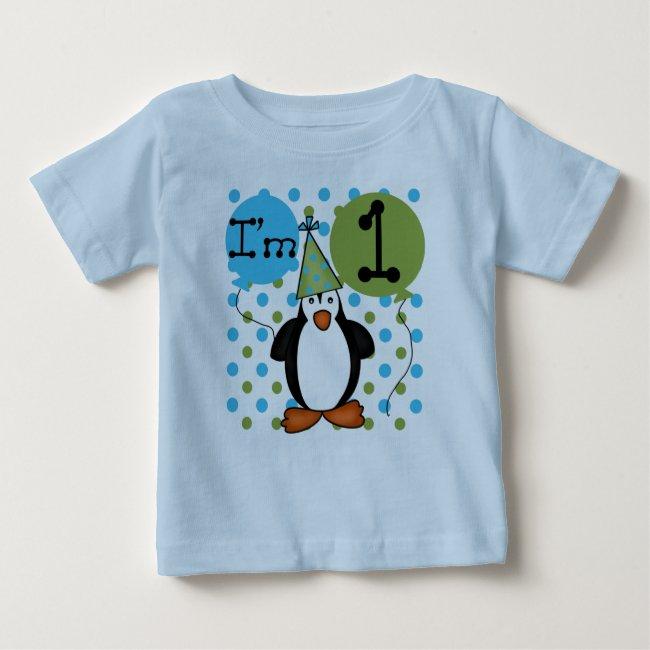 Penguin 1st Birthday Baby T-Shirt
