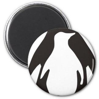 penguin 2 inch round magnet