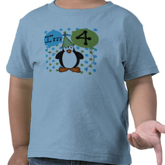 Penguin 4th Birthday Tee Shirts
