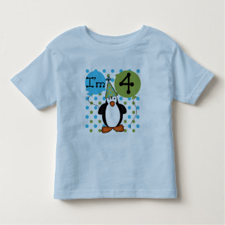 Penguin 4th Birthday Tshirts and Gifts