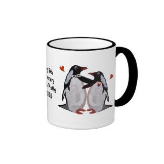 Penguin 50th Anniversary Ringer Mug