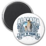 Penguin Alabama Refrigerator Magnets