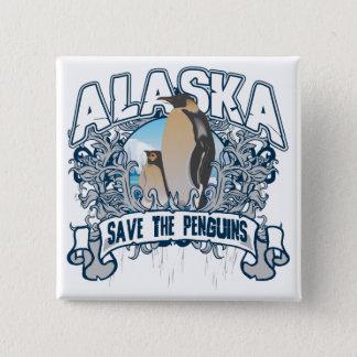 Penguin Alaska Pinback Button