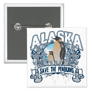 Penguin Alaska Pinback Button