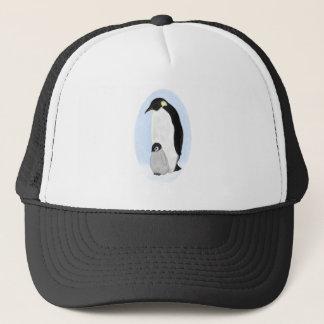 Penguin and Baby Trucker Hat