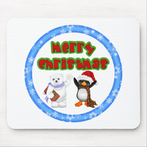 Penguin and Bears Christmas Wish Mouse Pad