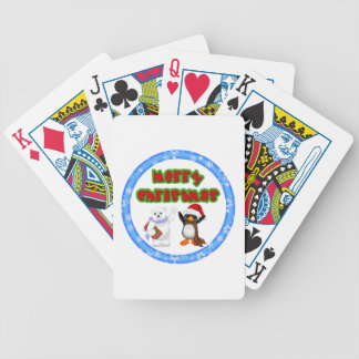 Penguin and Bears Christmas Wish Poker Deck
