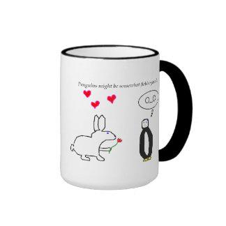 Penguin and Bunny Love? Ringer Mug