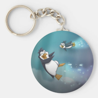 Penguin and Child Keychain