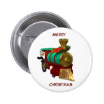 Penguin and Christmas Train Button