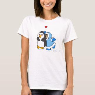 Penguin and Girl Kiss T-Shirt