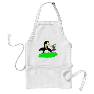 Penguin and Leprechaun Adult Apron