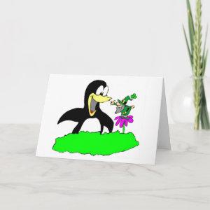 Penguin and Leprechaun Card