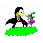 Penguin and Leprechaun Postcards